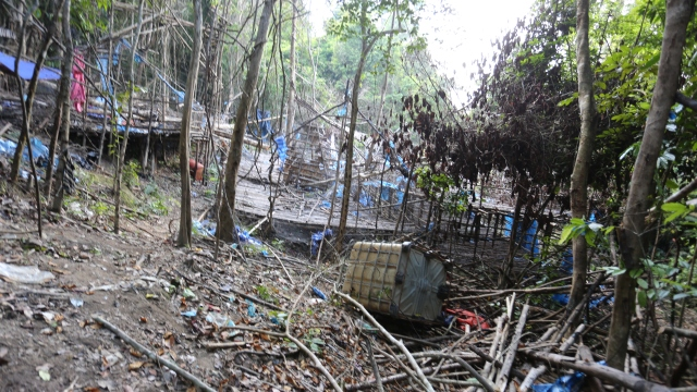 Wang Kelian camp used by people traffickers in Perlis Malaysia